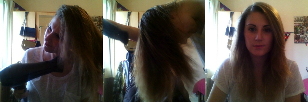 dry to straight