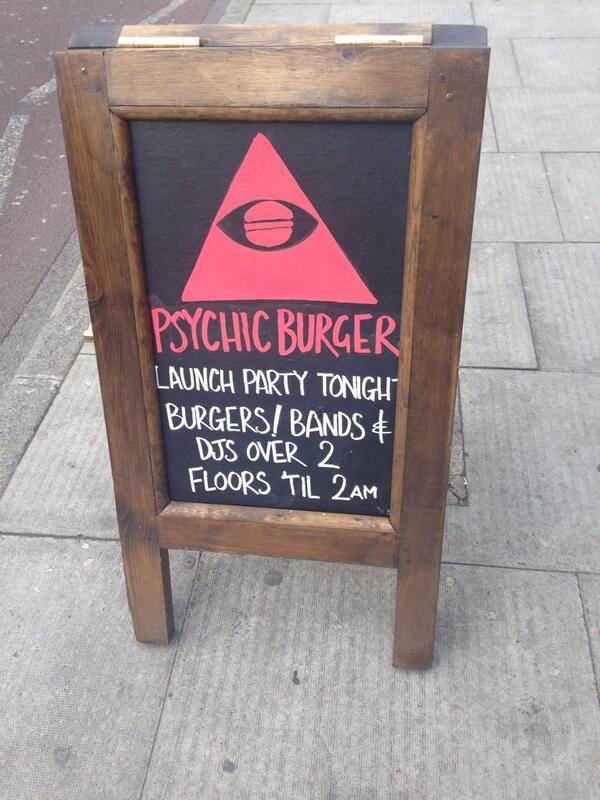 Pyschic Burger Launch Party