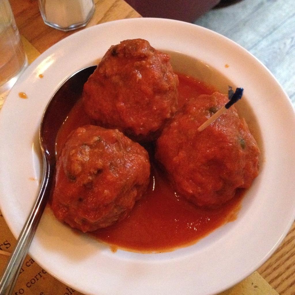 lamb & green peppercorn meatballs polpo