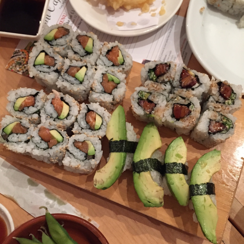 sushi cafe California rolls