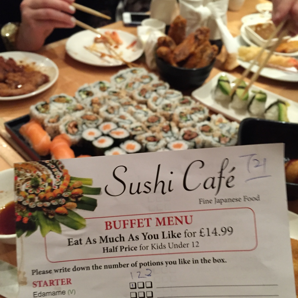 sushi cafe battersea menu