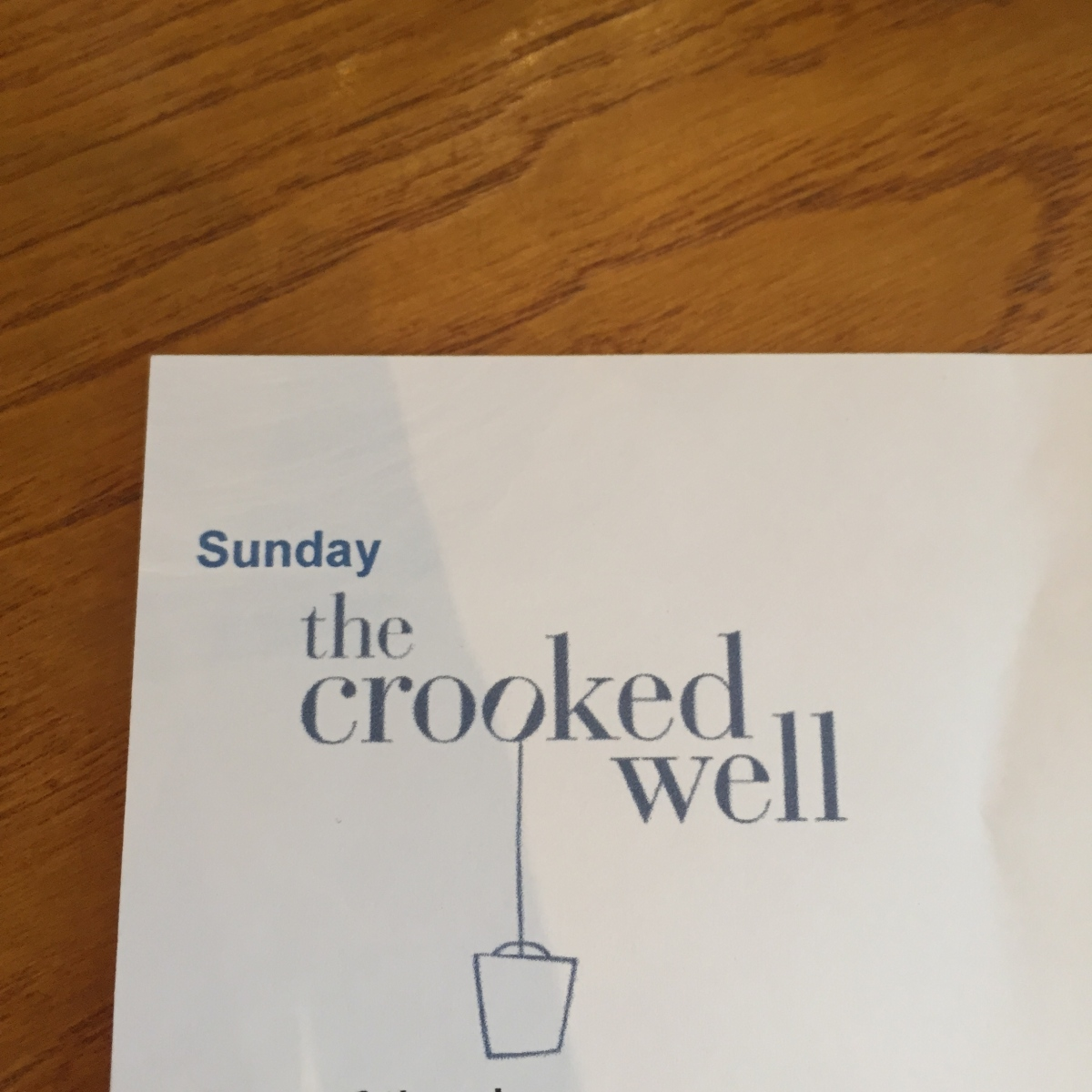 The Crooked Well Sunday Menus