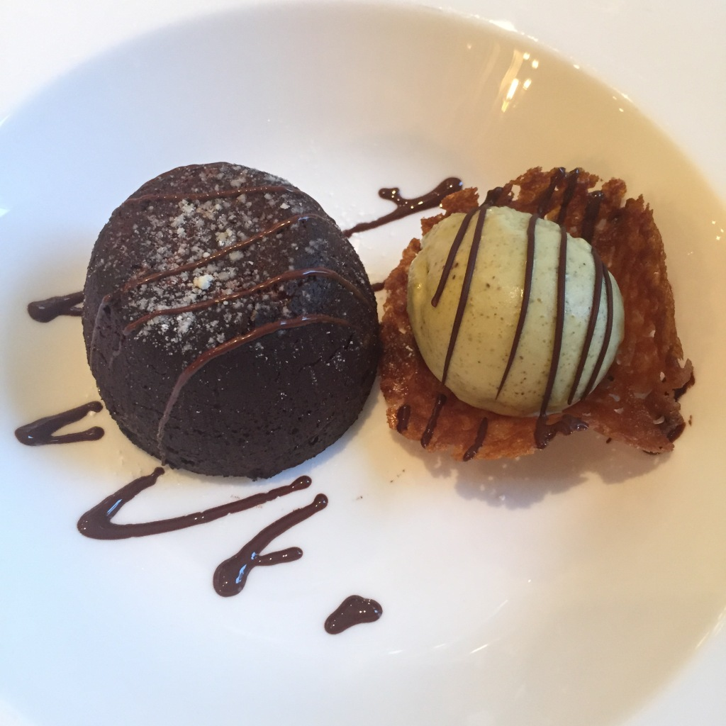 Chocolate Fondant & Pistachio Ice Cream