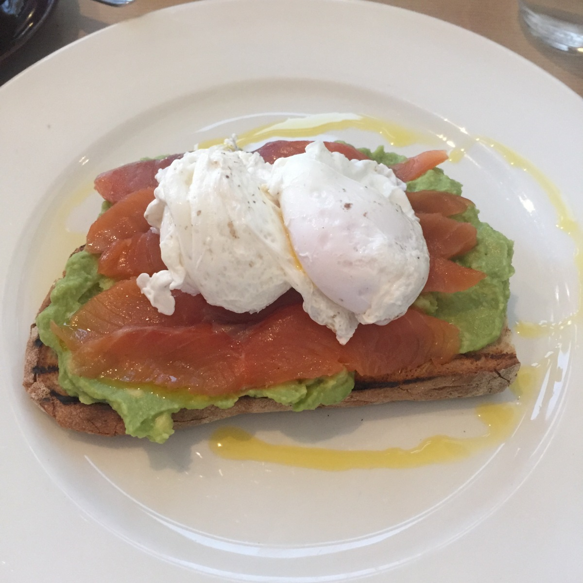 Smashed Avocado, Smoked Salmon and Eggs
