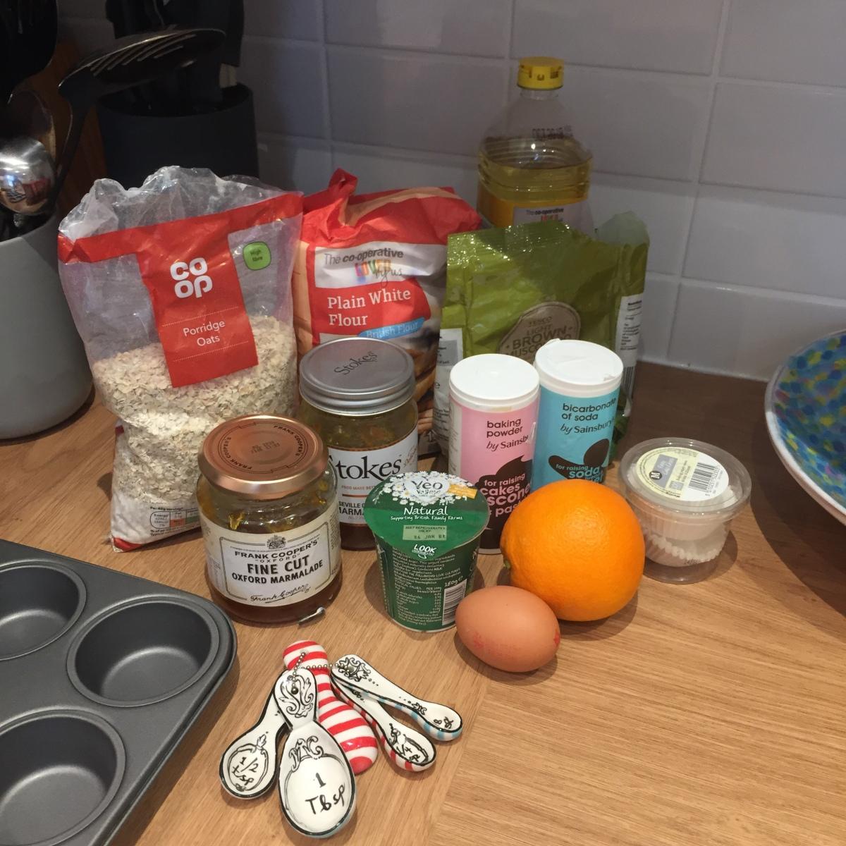 Marmalade muffins ingredients