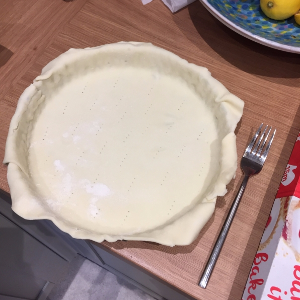 Lightly prick the base of the tart