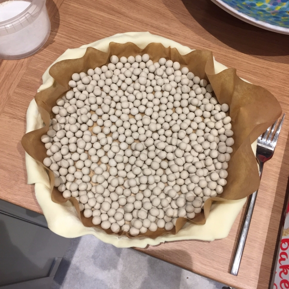 Fill with baking beans