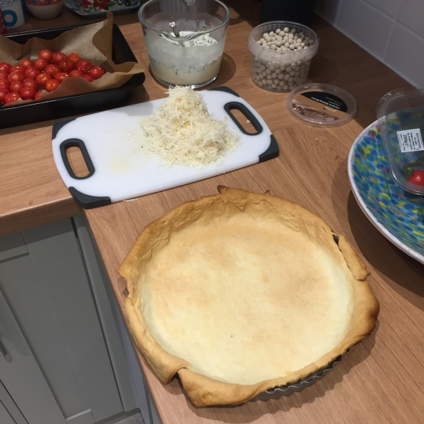 Blind-bake the tart for 20 mins 2