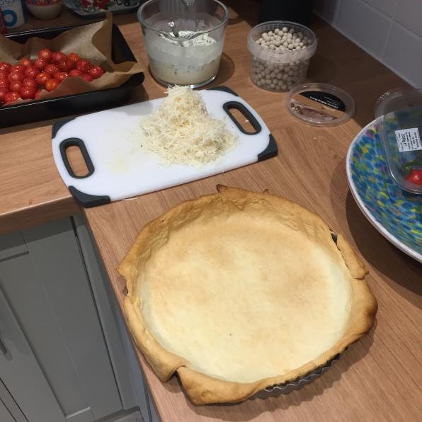 Blind-bake the tart for 20 mins 2