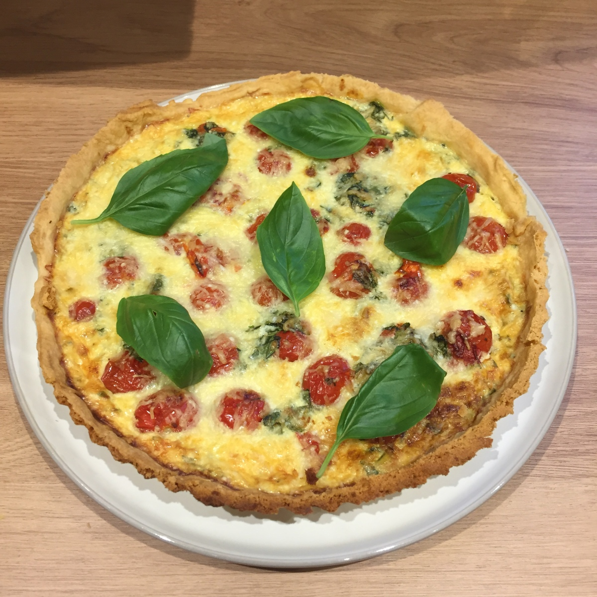 Recipe roasted tomato basil parmesan quiche
