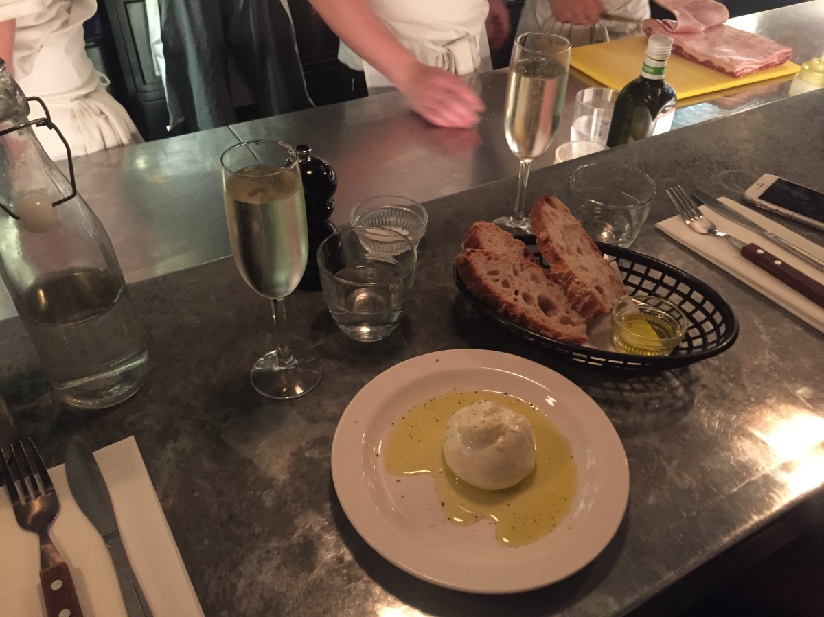 Burrata with Puglian olive oil